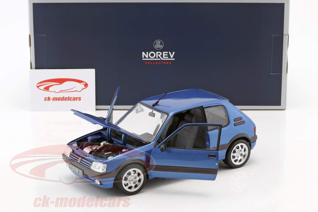 Peugeot 205 GTi 1.9 year 1992 miami blue 1:18 Norev