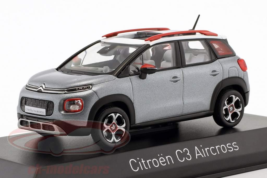 Citroën C3 Aircross année de construction 2017 gris / blanc / rouge 1:43 Norev