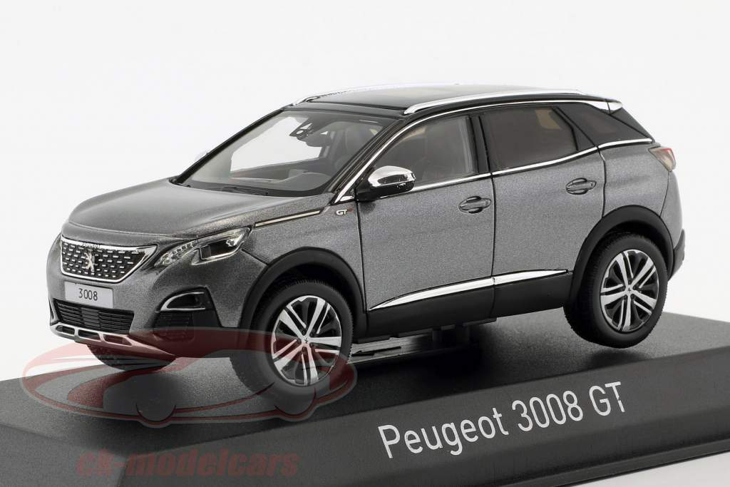 Peugeot 3008 GT année de construction 2016 Platinium gris métallique 1:43 Norev