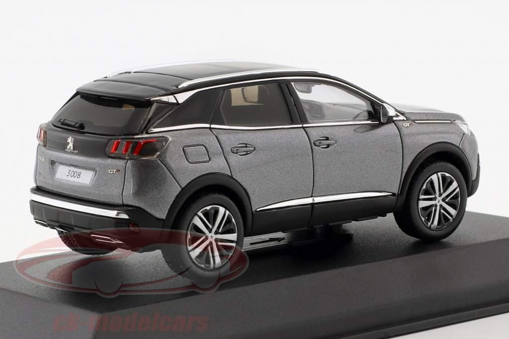 Peugeot 3008 GT Opførselsår 2016 platinium grå metallisk 1:43 Norev