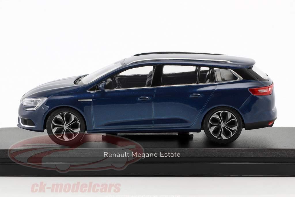 Renault Megane Estate ano de construção 2016 cosmos azul metálico 1:43 Norev