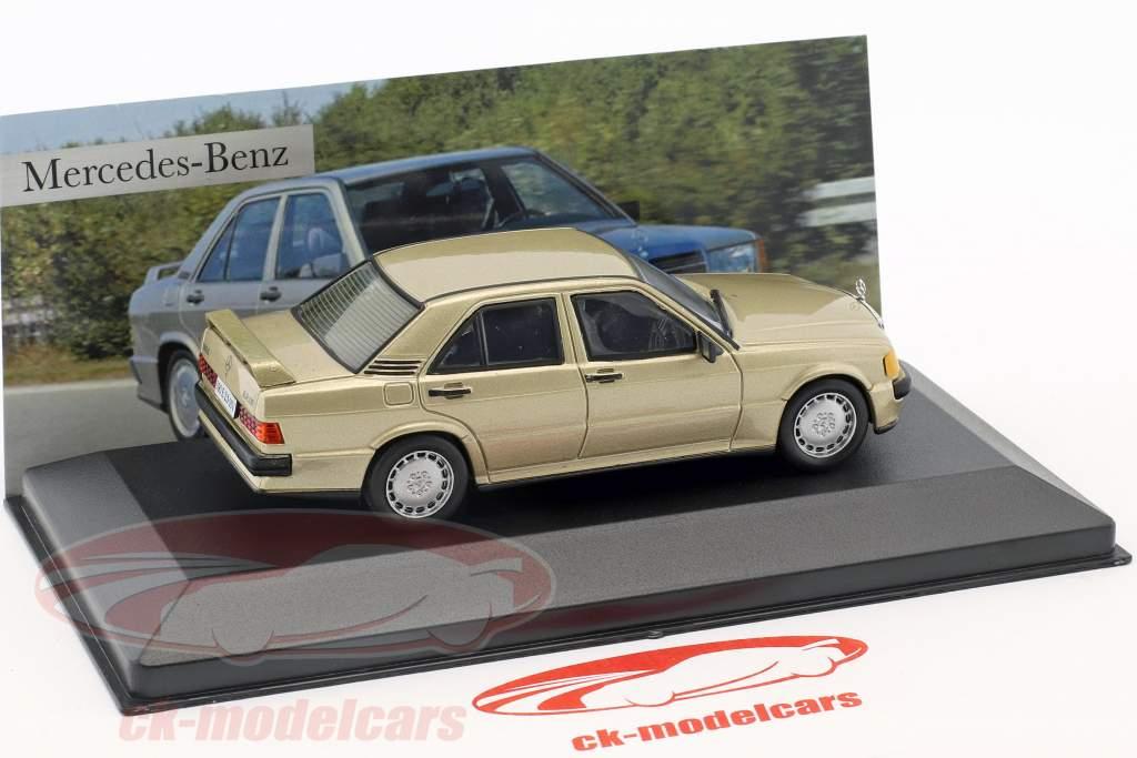 Mercedes-Benz 190 E 2.3-16V (W201) ano de construção 1984 ouro metálico 1:43 Altaya