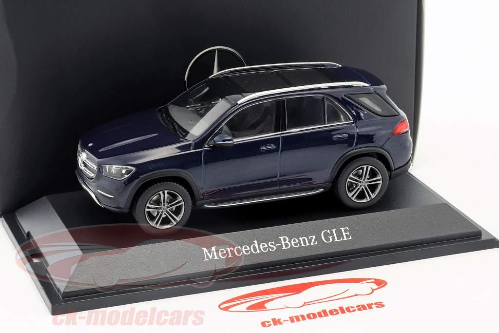 Mercedes-Benz GLE (V167) année de construction 2018 cavansite bleu 1:43 Norev