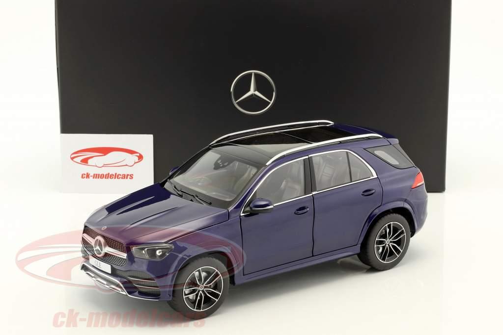 Mercedes-Benz GLE (V167) Opførselsår 2018 strålende blå metallisk 1:18 Norev