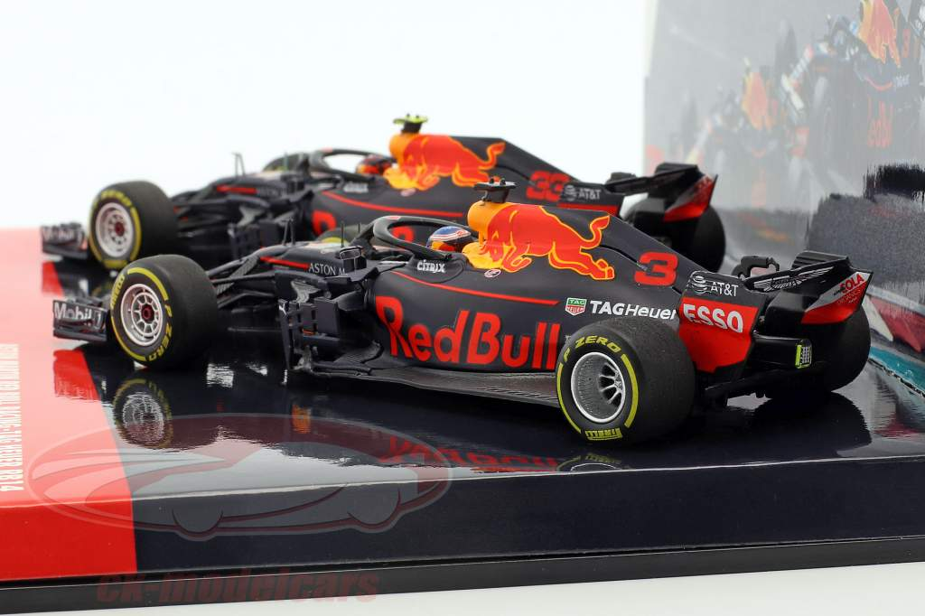 Ricciardo #3 & Verstappen #33 2-Car Set Red Bull Racing RB14 fórmula 1 2018 1:43 Minichamps