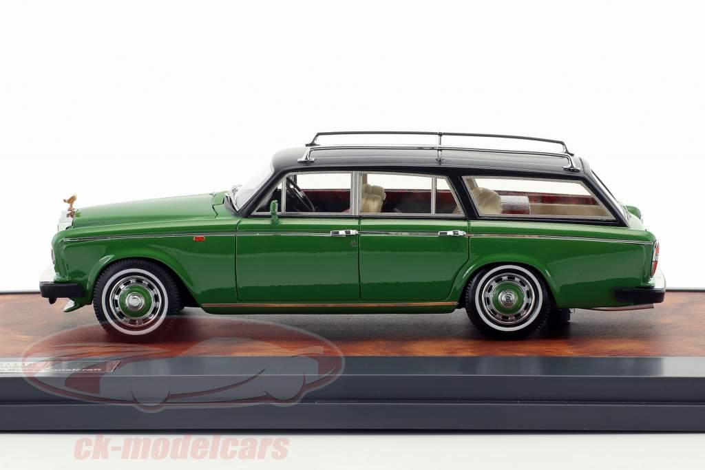 Rolls Royce Silver Shadow FLM Panelcraft Estate Opførselsår 1980 grøn / sort 1:43 Matrix