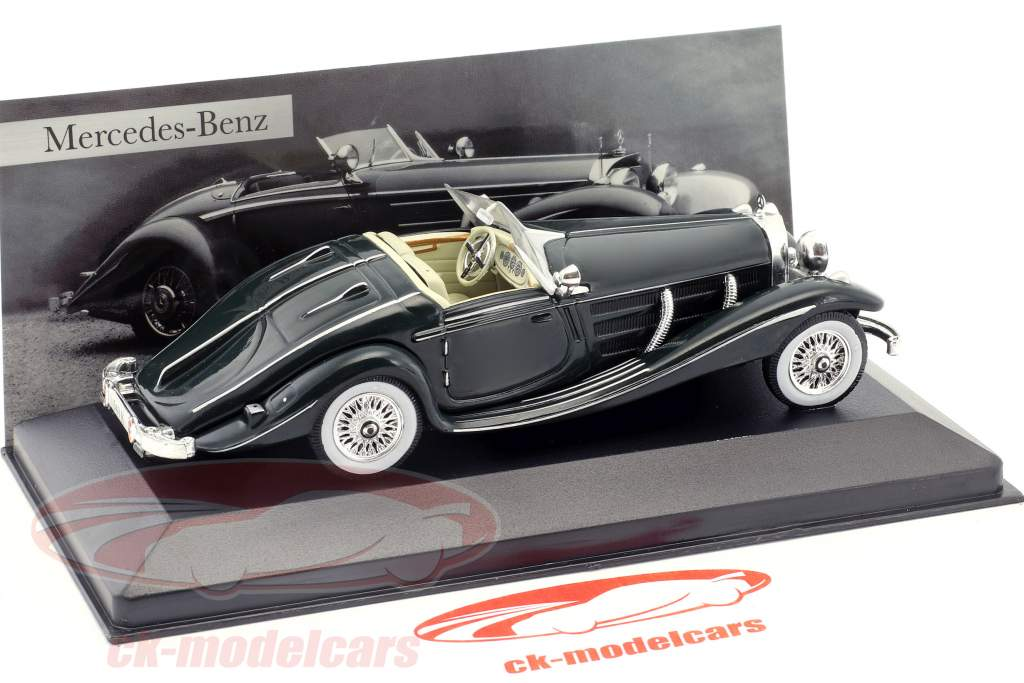1936 mercedes-benz w29 540 K Special roadster Green 1:43 Ixo Altaya Collection
