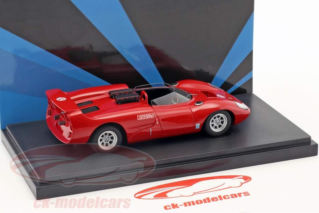 De Tomaso Sport 5000 ano de construção 1965 vermelho 1:43 AutoCult