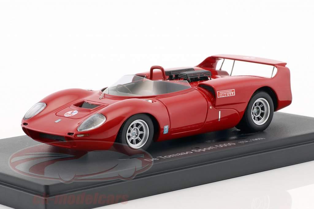 De Tomaso Sport 5000 année de construction 1965 rouge 1:43 AutoCult