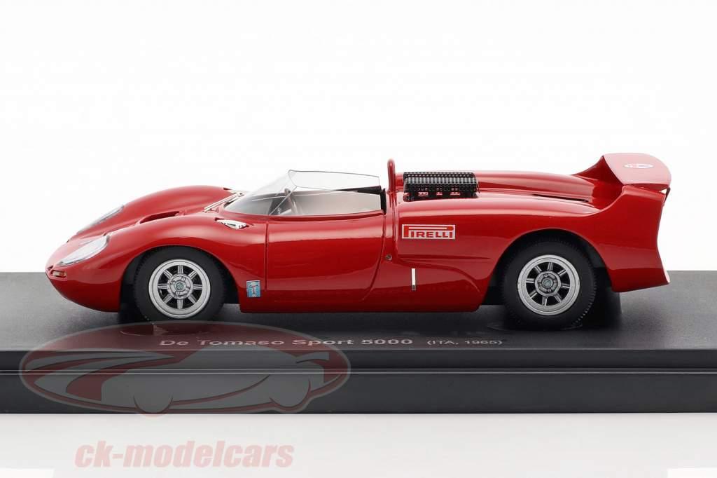 De Tomaso Sport 5000 Opførselsår 1965 rød 1:43 AutoCult