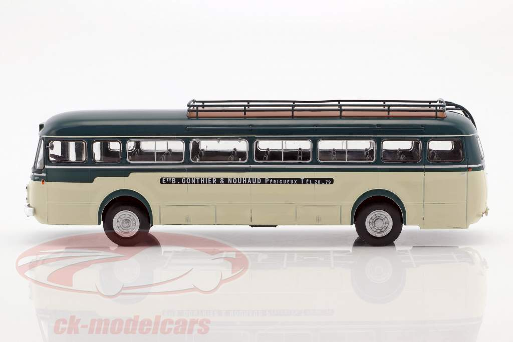 Renault R 4192 Gonthier & Nouhaud bus France year 1952 green / White 1:43 Altaya