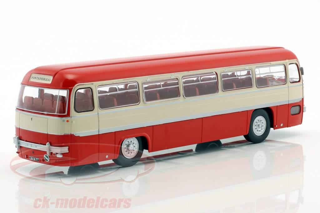Chausson ANG ônibus França ano de construção 1956 vermelho / branco / prata 1:43 Altaya