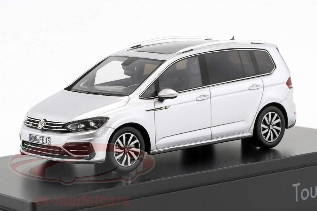 Volkswagen VW Touran R-Line Opførselsår 2016 sølv metallisk 1:43 Spark