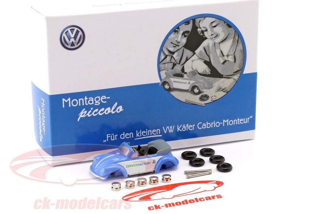 Volkswagen VW escarabajo cabriolé juego de montaje azul / blanco 1:90 Schuco Piccolo