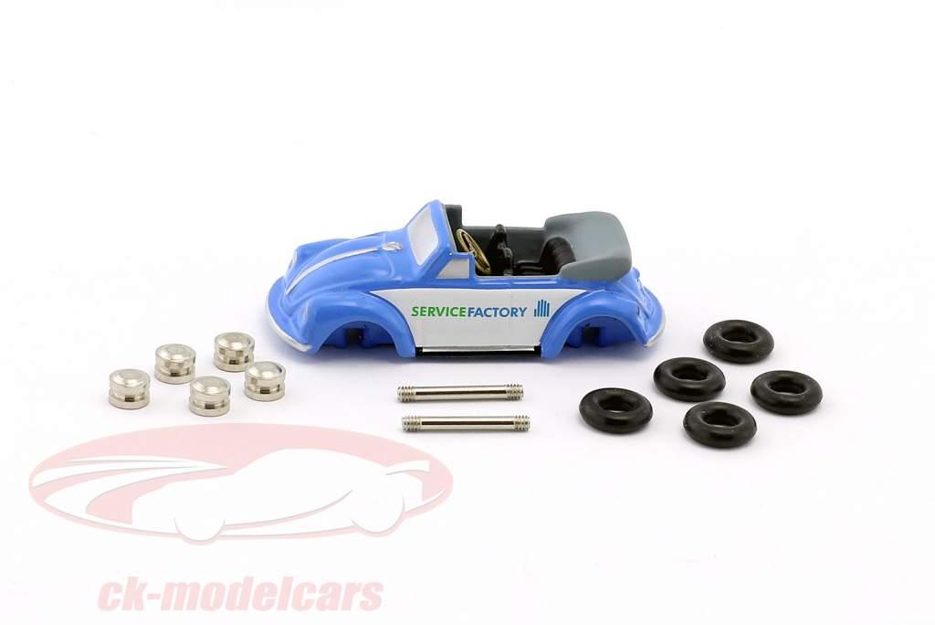 Volkswagen VW Käfer Cabriolet Montage-Set blau / weiß 1:90 Schuco Piccolo