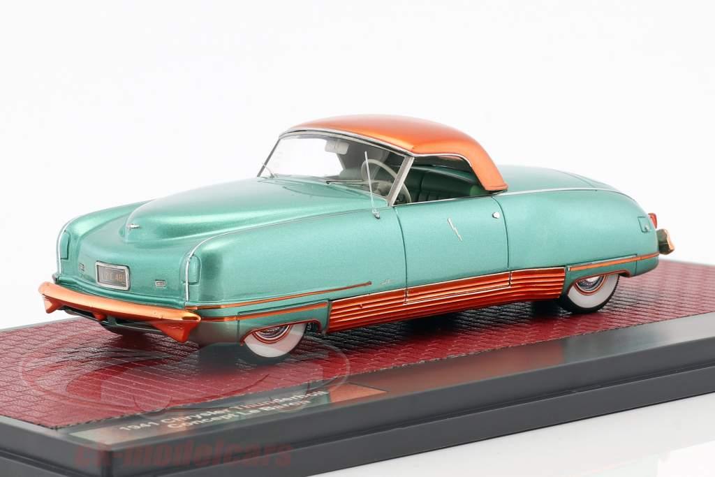 Chrysler Thunderbolt Concept Le Baron Closed Top Opførselsår 1941 grøn metallisk 1:43 Matrix