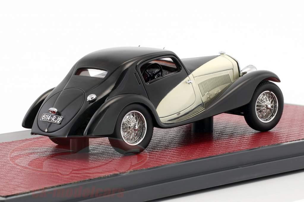 Alfa Romeo 6C 1750 GS Figano Coupe Opførselsår 1933 sort / creme 1:43 Matrix