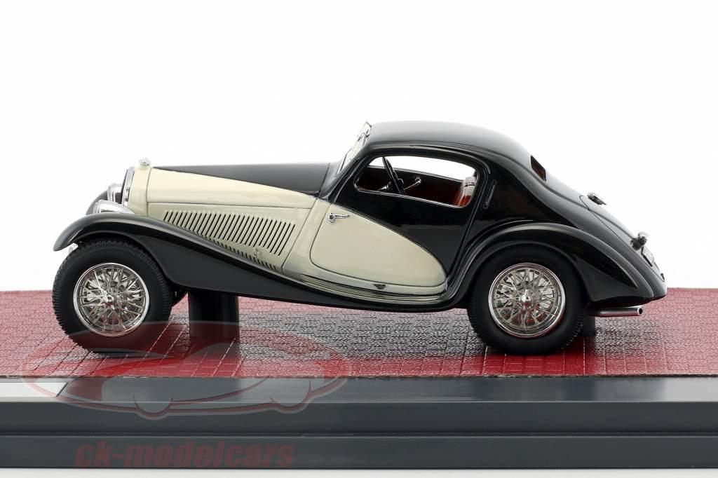 Alfa Romeo 6C 1750 GS Figano Coupe année de construction 1933 noir / crème 1:43 Matrix