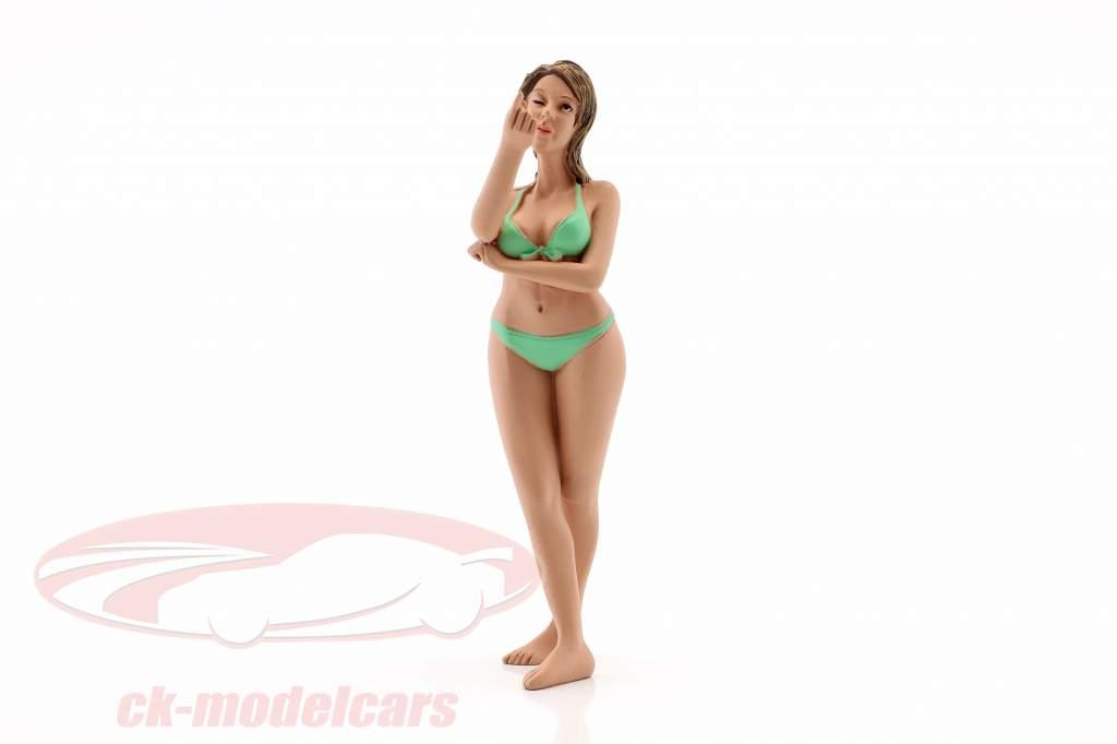 La chica del calendario agosto en bikini 1:18 American Diorama