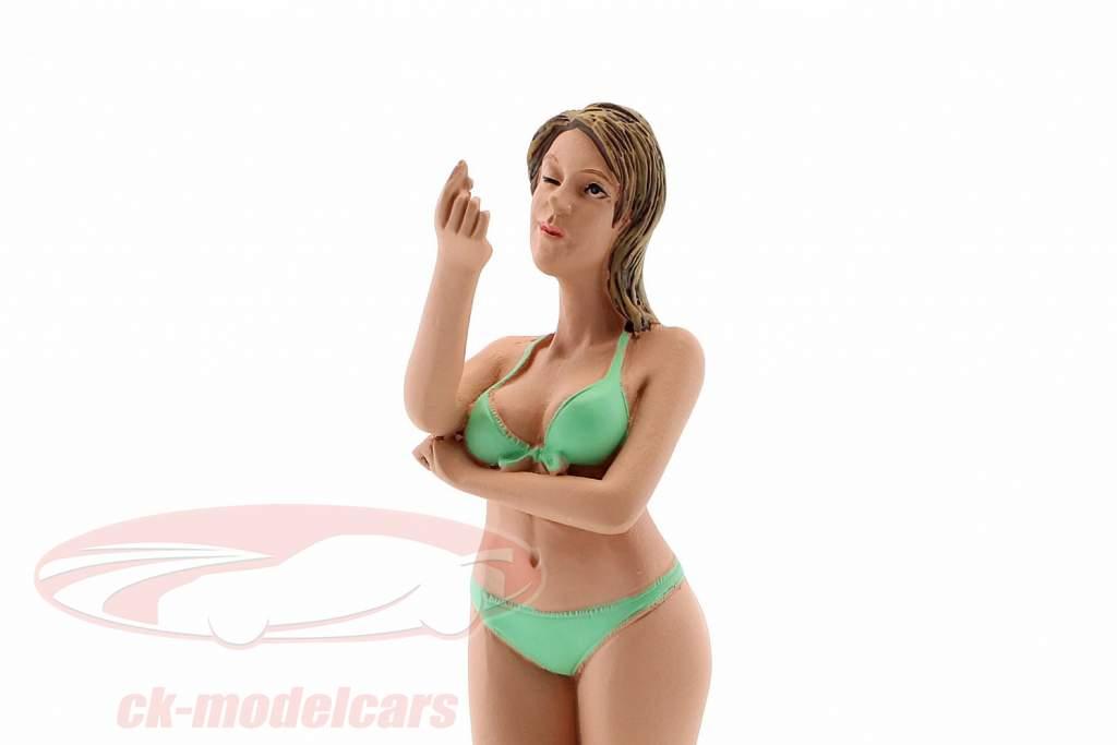 Calendar Girl August in bikini 1:18 American Diorama