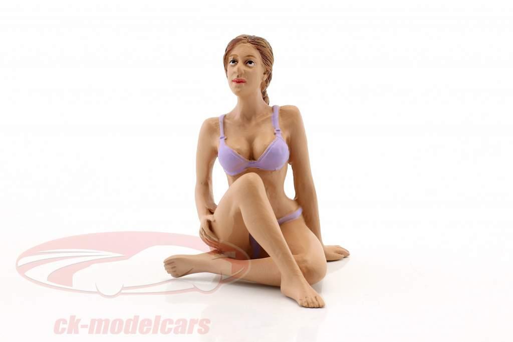 La chica del calendario septiembre en bikini 1:18 American Diorama