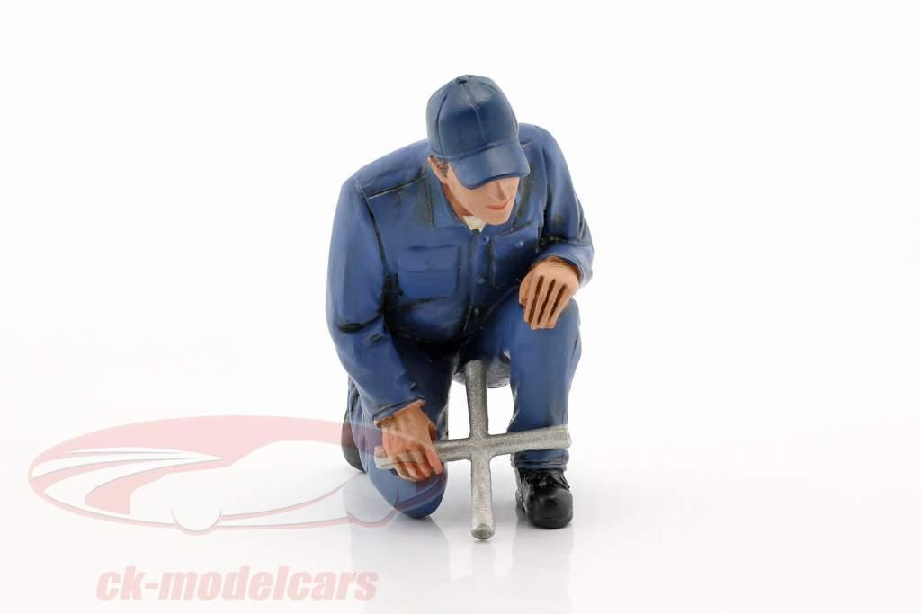mekaniker Juan med lug skruenøgle figur 1:18 American Diorama