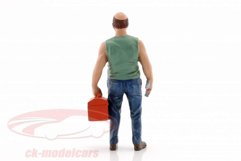 mecânico Sam com caixa de ferramentas figura 1:18 American Diorama