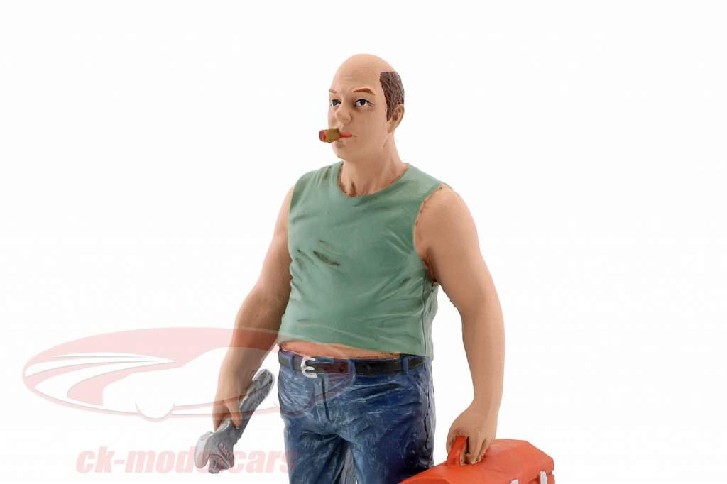 Mechaniker Sam with Werkzeugkasten Figur 1:18 American Diorama