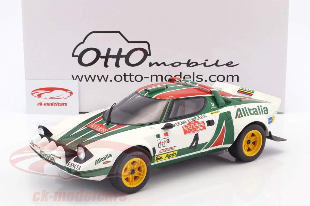 Lancia Stratos HF #4 vencedor Rallye SanRemo 1976 Waldegard, Thorszelius 1:12 OttOmobile