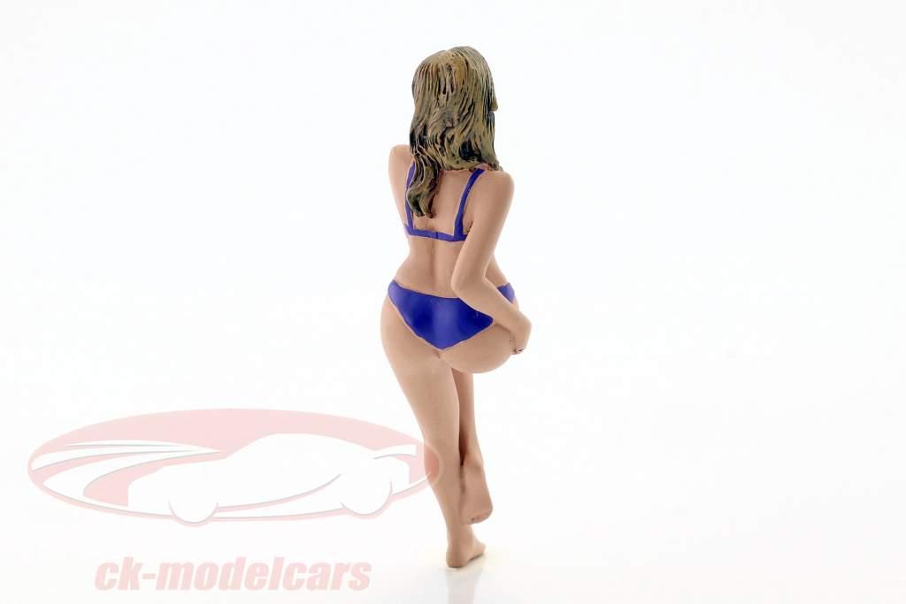 La chica del calendario julio en bikini 1:18 American Diorama