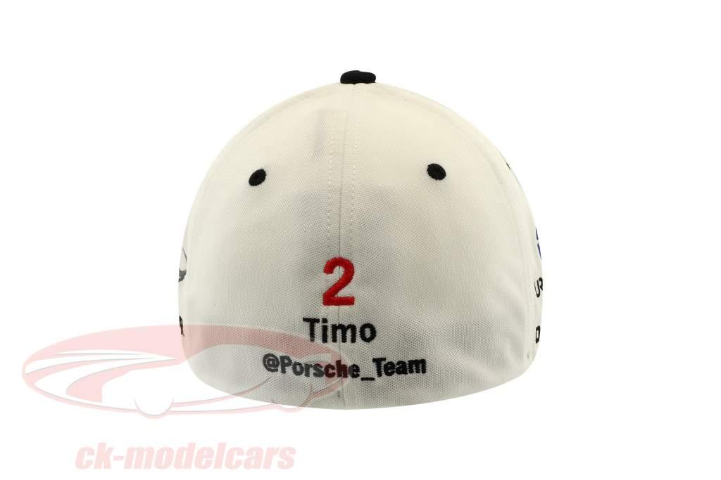 Porsche LMP Team Cap #2 Timo Bernhard Winner 24h LeMans 2017 white