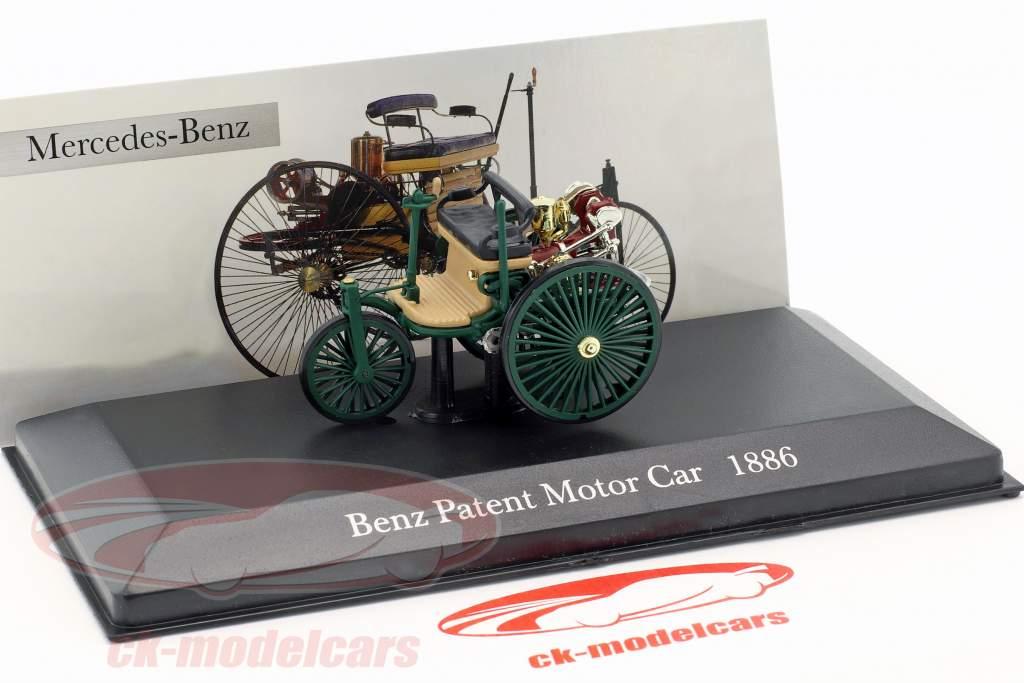 Mercedes-Benz Patent Motorwagen Baujahr 1886 dunkelgrün 1:43 Altaya