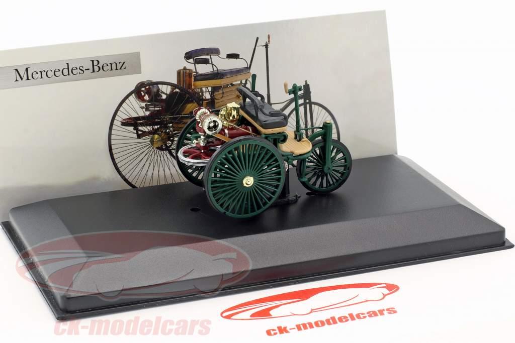 Mercedes-Benz Patent Motor Car escuro verde Ano 1886 1:43 Altaya