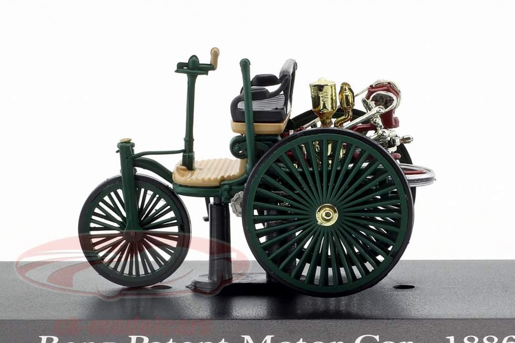 Mercedes-Benz Patent Motor køretøj Byggeår 1886 mørkegrøn 1:43 Altaya