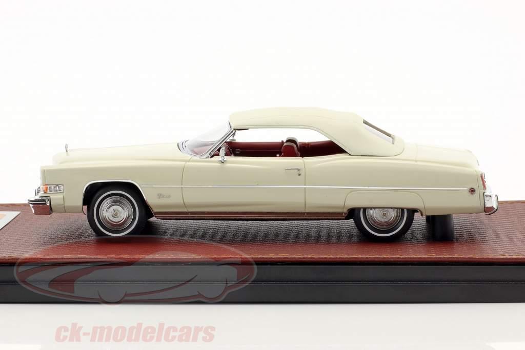 Cadillac Eldorado Cabriolet Closed Top Opførselsår 1973 hvid 1:43 GLM
