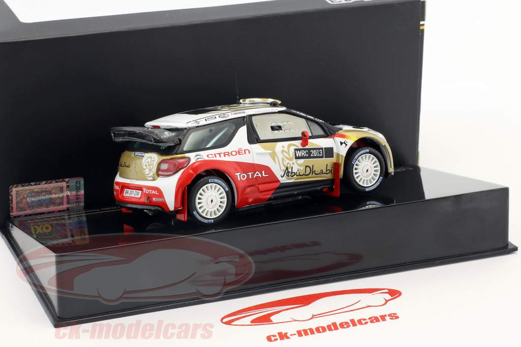 Citroen DS3 WRC Abu Dhabi World Rallye Team Presentation 1:43 Ixo