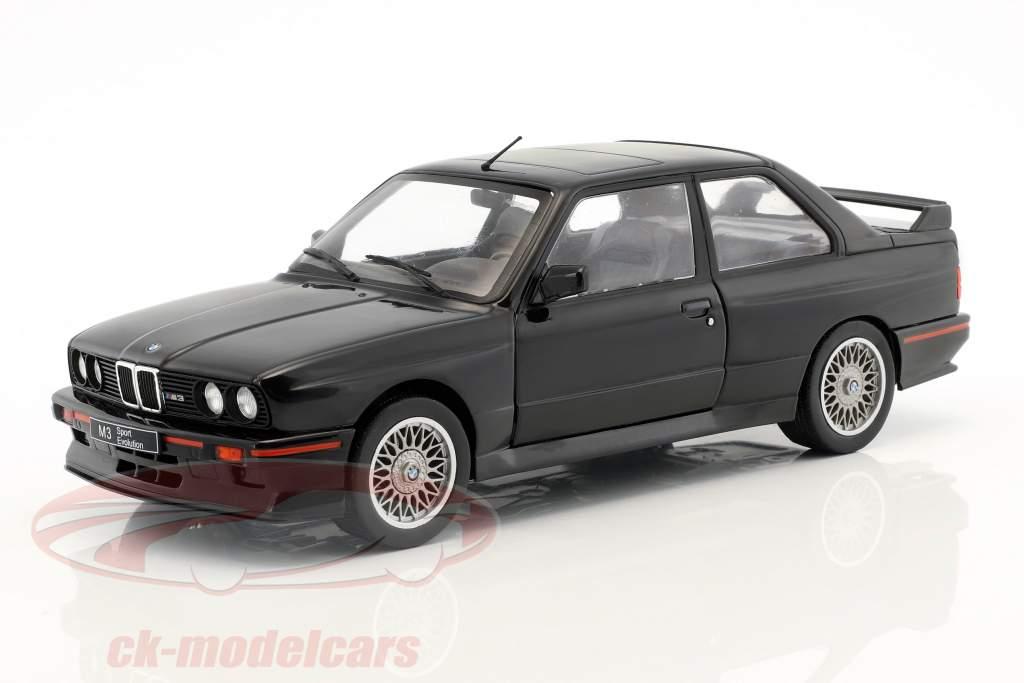 BMW M3 E30 Sport Evolution year 1990 black 1:18 Solido
