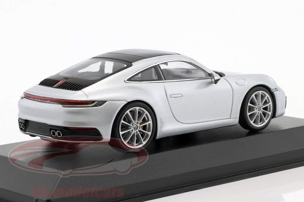 Porsche 911 (992) C2S coupe year 2019 dolomit silver metallic 1:43 Minichamps