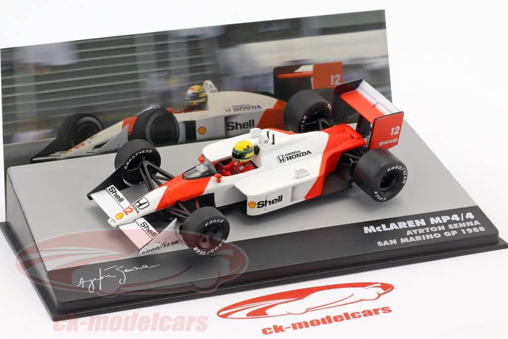 Ayrton Senna McLaren MP4/4 #12 vencedor San Marino GP fórmula 1 1988 1:43 Altaya