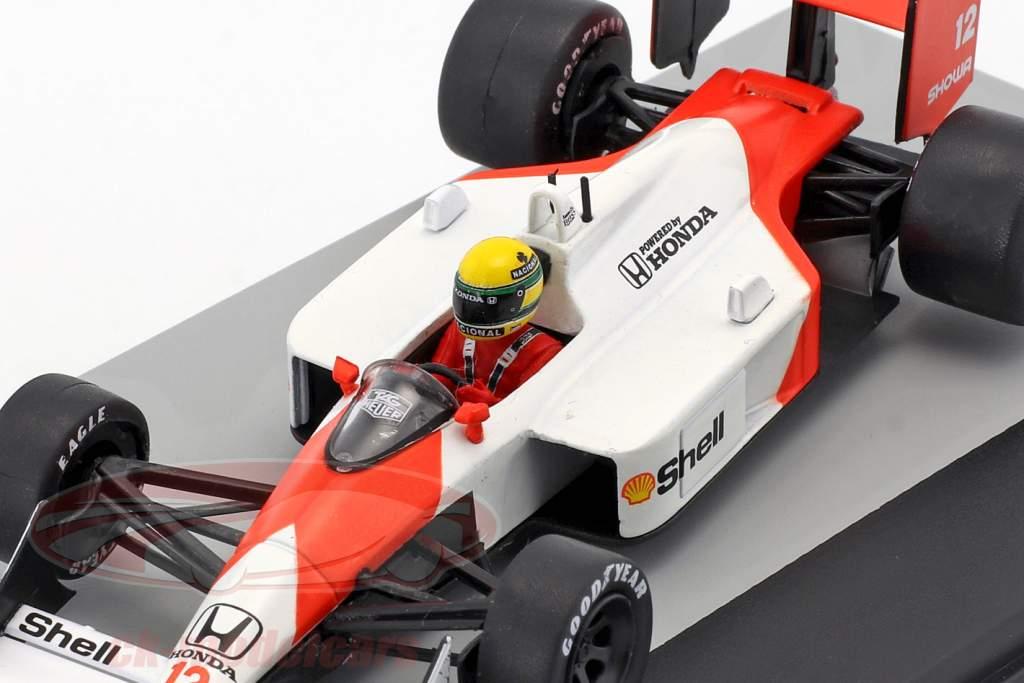 Ayrton Senna McLaren MP4/4 #12 Vinder San Marino GP formel 1 1988 1:43 Altaya