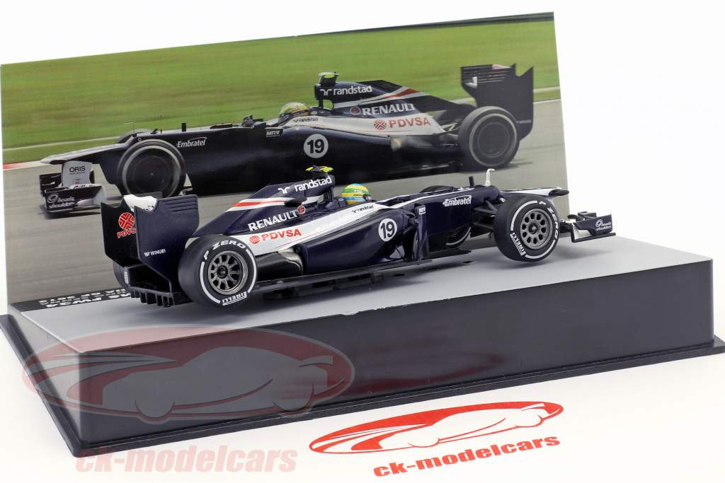 Bruno Senna Williams FW34 #19 Malaisie GP formule 1 2012 1:43 Altaya