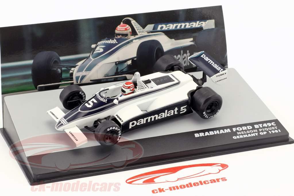 N. Piquet Brabham BT49C #5 World Champion Germany GP formula 1 1981 1:43 Altaya