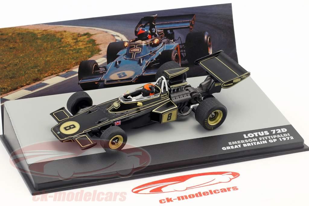 E. Fittipaldi Lotus 72D #8 vincitore britannico GP formula 1 1972 1:43 Altaya