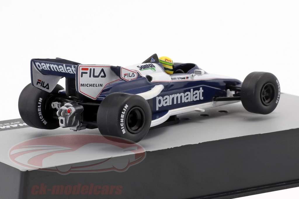 Ayrton Senna Brabham BT52B teste fórmula 1 1983 1:43 Altaya