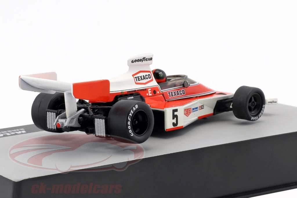 E. Fittipaldi McLaren M23 #5 campeão do mundo Espanha GP fórmula 1 1974 1:43 Altaya