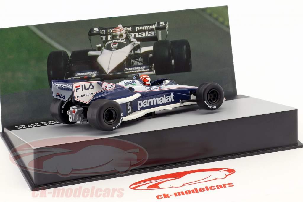 N. Piquet Brabham BT52B #5 Champion du Monde Europe GP Formule 1 1983 1:43 Altaya