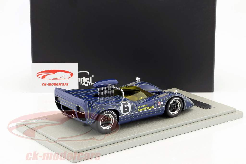 McLaren M6B #6 vencedor Bridgehampton GP Can-Am Series 1968 Mark Donohue 1:18 Tecnomodel