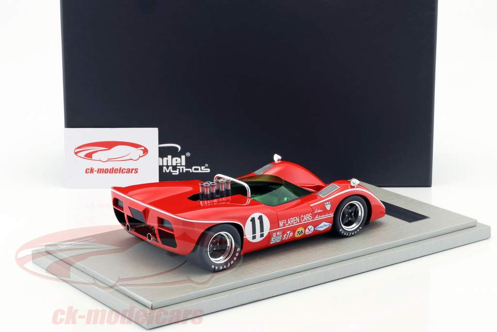 McLaren M6B #11 3rd Bridgehampton GP Can-Am Series 1968 Lothar Motschenbacher 1:18 Tecnomodel