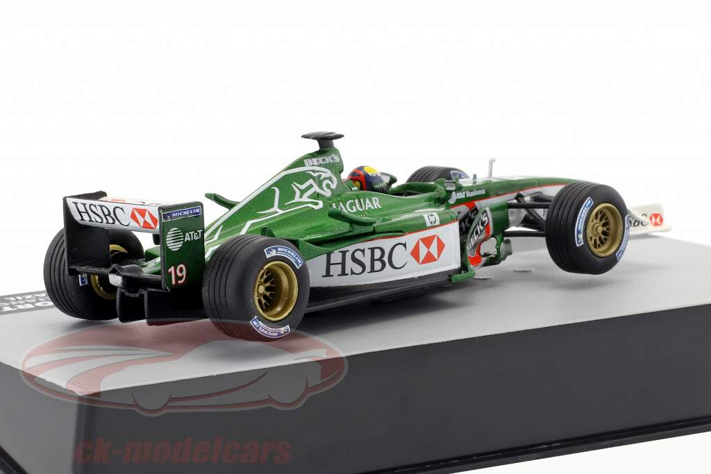 Luciano Burti Jaguar R2 #19 Brasil GP fórmula 1 2001 1:43 Altaya