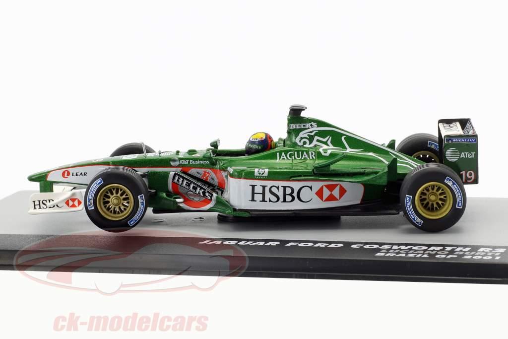 Luciano Burti Jaguar R2 #19 Brésil GP formule 1 2001 1:43 Altaya